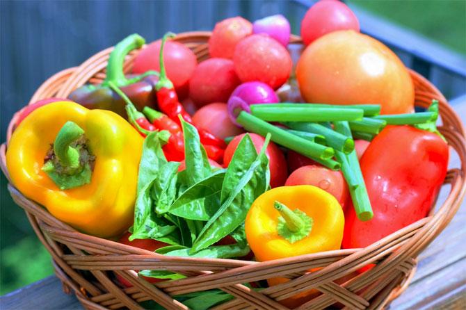 Овощи при сушке тела